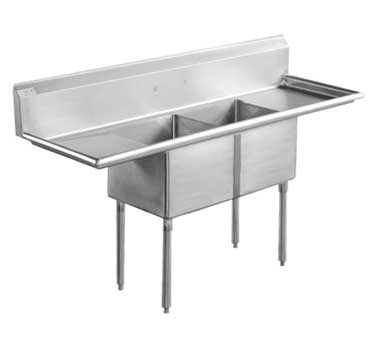 Serv-Ware D2CWP18182-18 Two (2) Compartment Economy Series Sink