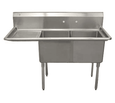 Serv-Ware D2CWP1818L-18 Two (2) Compartment Economy Series Sink
