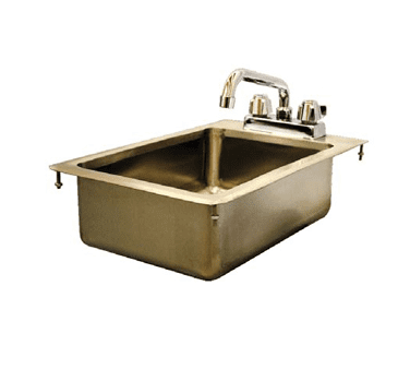 Serv-Ware DIS-1C1014-CWP One (1) Compartment Drop-In Sink