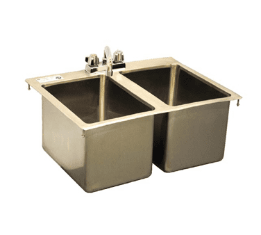 Serv-Ware DIS-2C1014-CWP Two (2) Compartment Drop-In Sink