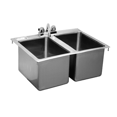 Serv-Ware DIS-2C2016-CWP Two (2) Compartment Drop-In Sink