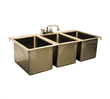 Serv-Ware DIS-3C1014-CWP Three (3) Compartment Drop-In Sink