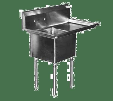 Serv-Ware E1CWP2424R-24 One (1) Compartment Economy Series Sink