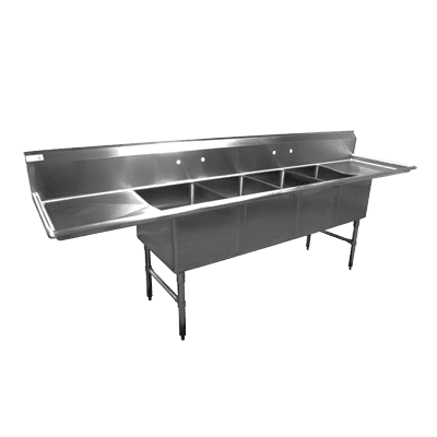 Sink, (4) Four Compartment