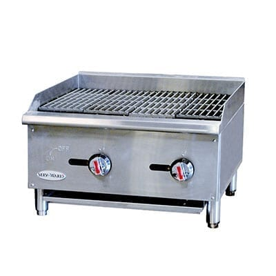 Serv-Ware SCBS-24 Radiant Countertop Gas Charbroiler