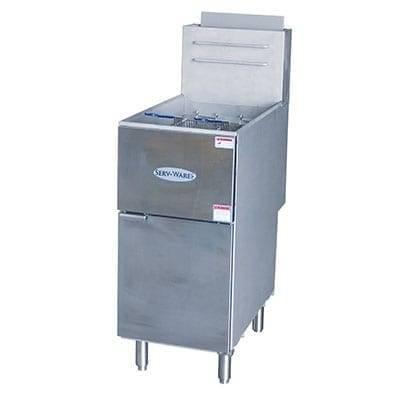 Serv-Ware SGF-50N Full Pot Floor Model Gas Fryer