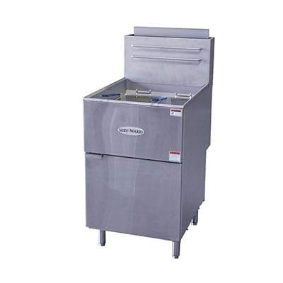 Serv-Ware SGF-70N Full Pot Floor Model Gas Fryer