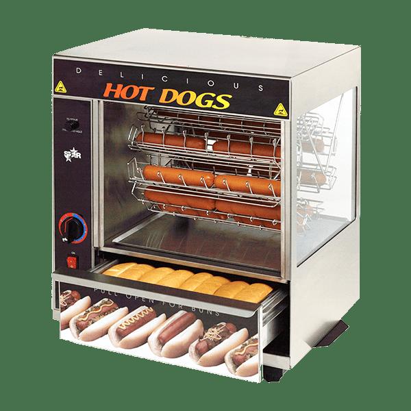 Star 175CBA Hot Dog Broiler w/ 36 Franks & 32 Buns Capacity