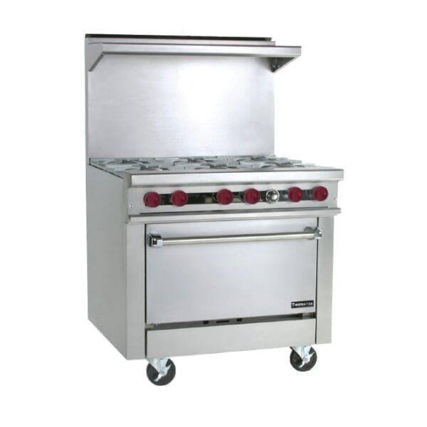 Therma-Tek TMD36-6-0 Restaurant Range, gas, 36″, (6…