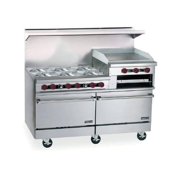 Therma-Tek TMD60-6-24RGB-2 Restaurant Range, gas, 60″, (6…