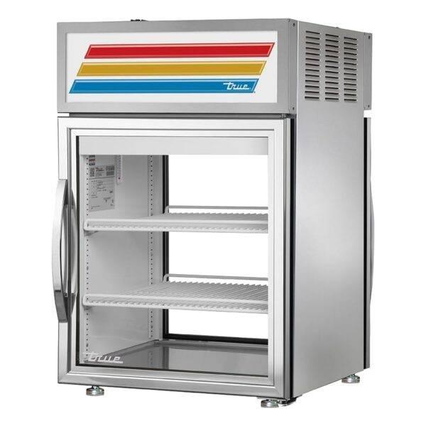 True Manufacturing Co., Inc. GDM-05PT-S-HC~TSL01 24″ Stainless Steel Pass Through Countertop Display Refrigerator