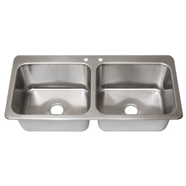 BK Resources DDI2-20161224-P-G Drop-In Sink, two compartment