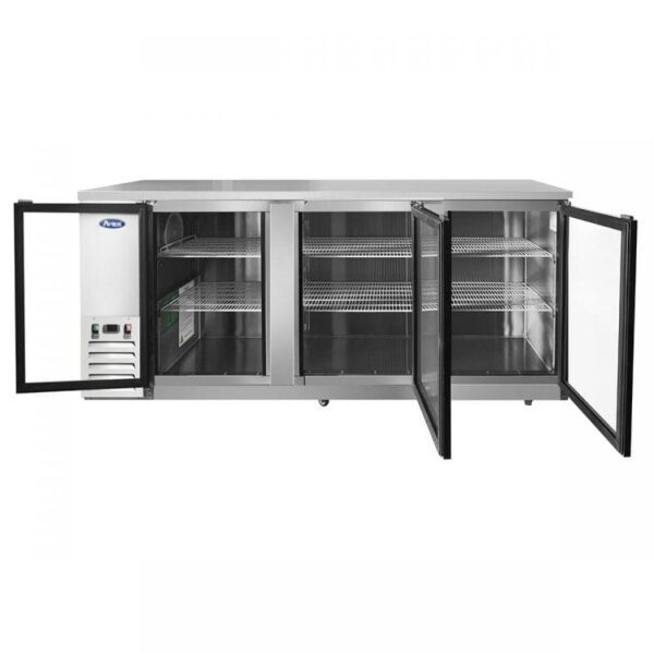 "Atosa USA, Inc. MBB90GGR – 90"" Glass Door Back Bar Cooler – S/S"