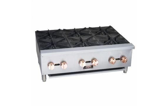 Copper Beech CBHP12-2, 12″ Wide Gas Hotplate w/2 Open Burners