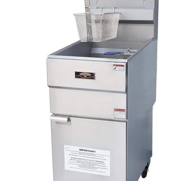 Copper Beech CBF-40 15 – 50 lb. 3 Gas Tube Fryer with Thermostatic Controls