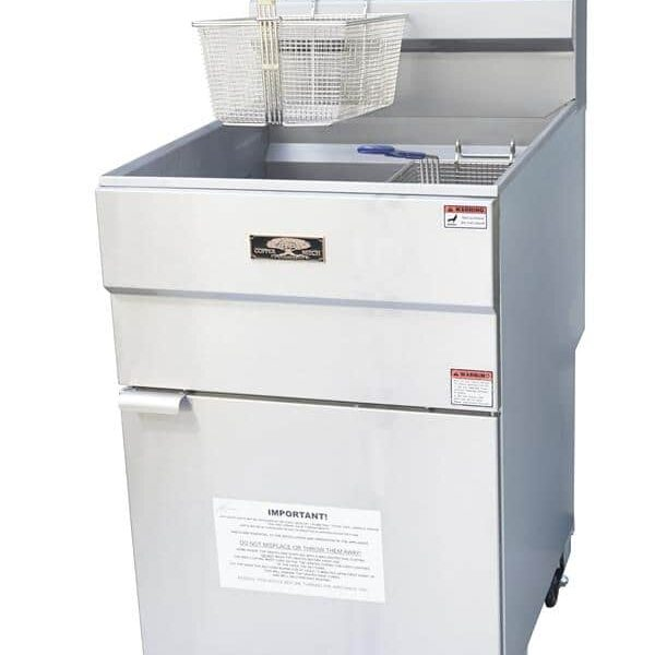 Copper Beech CBF-70, 51 – 90 lb. 5 Gas Tube Fryer with Thermostatic Controls