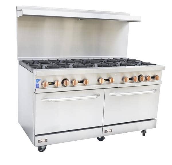 Copper Beech CBR-10, 10 Open Burner 60″ Restaurant Gas Range